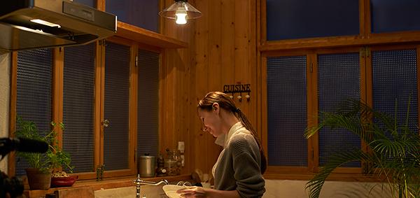 電球なのでキッチンにも設置できる