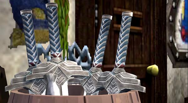 壺に入った大量の剣