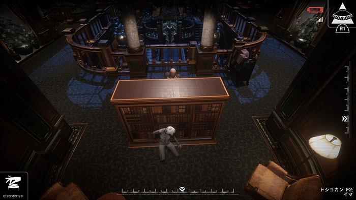 隠れる地点や、敵に対する対処などは、画面をタップすることで指示できる。※画像はPS4版