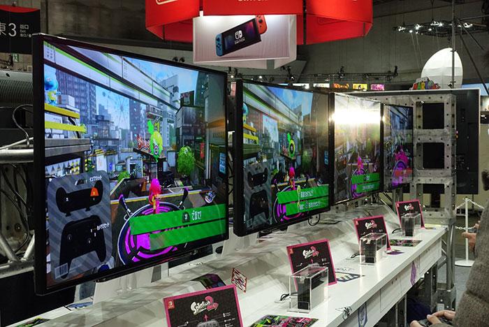 体験台は(4vs4)×2ブース。加えて勝利したプレイヤーだけが体験できる携帯モードブースが4vs4で計24台