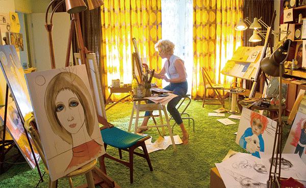 絵を描くマーガレット