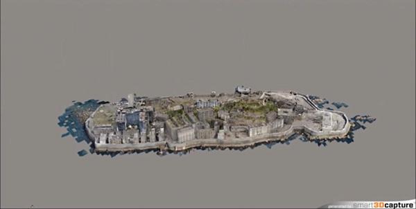 精巧な3DCG製の軍艦島