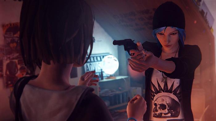 他キャラクターの行動や、マックスに対する態度は選択肢でどんどん変わっていく。